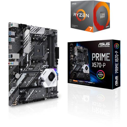 Processeur AMD Ryzen 7 3700X (3.6 GHz) + Carte mère Asus PRIME X570-P + 3 mois d'abonnement Xbox Game Pass + 1 Jeu offert