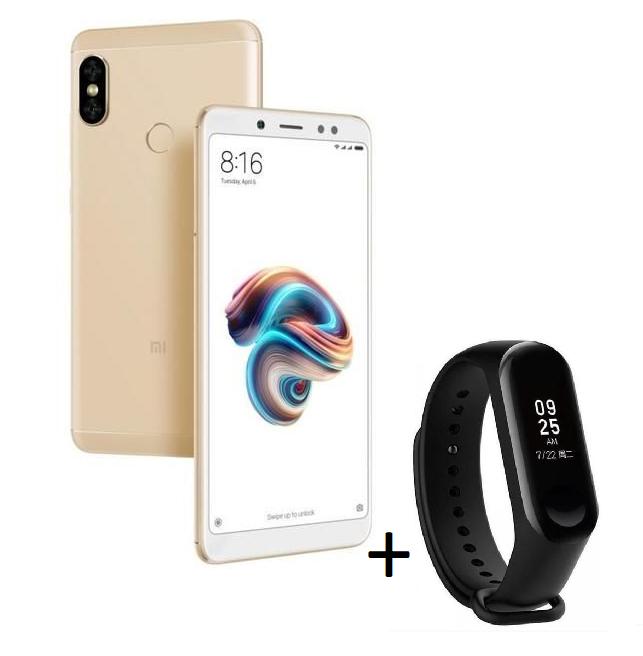 """Smartphone 5.99"""" Xiaomi Redmi Note 5 - RAM 4 Go, ROM 64 Go + Bracelet connecté Mi Band 3 (Via ODR de 30€)"""