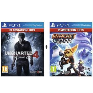 Pack de 2 jeux PS4 : Ratchet & Clank + Uncharted 4