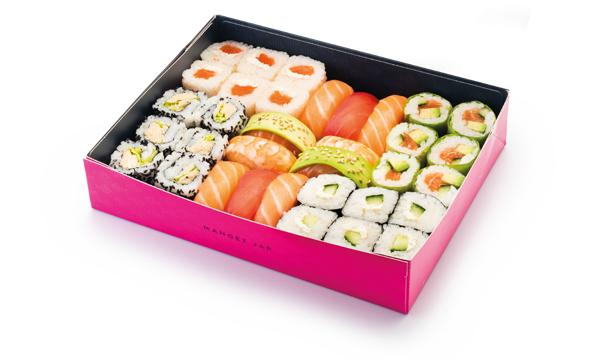 Box de 34 pièces Lovebox Dégustation + 2 salades de choux et 2 boissons au choix