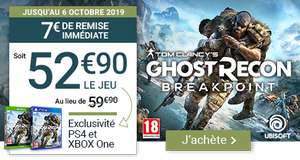 Tom Clancy's Ghost Recon Breakpoint sur PS4 et Xbox One
