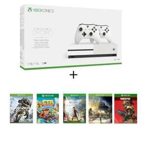 Console Xbox One S 1To - 2 Manettes + Assassin's Creed Origins + Odyssey + Ghost Recon Breakpoint + Crash Team Racing + Apex Legends
