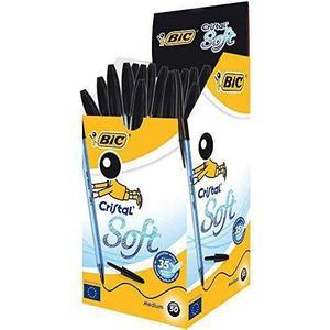 Boîte de 50 Stylos-bille Bic Cristal Soft - Noir (vendeur tiers)