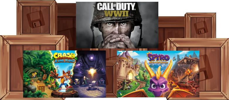 Humble Monthly Bundle : Call of Duty WW2 + Crash Bandicoot N'Sane Trilogy + Spyro Reignited Trilogy + 4 Jeux sur PC (Dématérialisés - Steam)