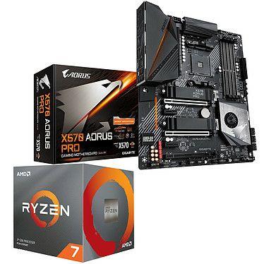 Kit Processeur Ryzen 7 3800x - 3.9 GHz / 4.5 GHz + Carte mère Gigabyte x570 Aorus Pro