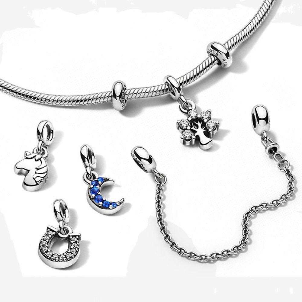 Bracelet Pandora Me + 2 Espaceurs Pandora Me + 1 charm Pendant ou 1 chaîne de confort Pandora me