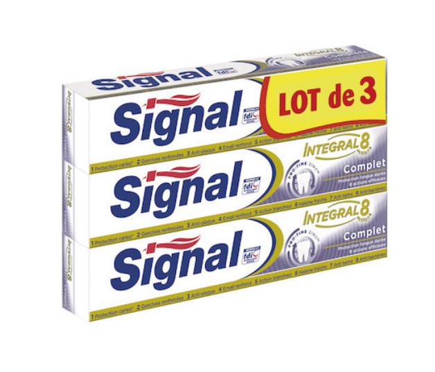 Lot de 3 dentifrices Signal, différentes variétés (via 2,72€ sur la carte fidélité + BDR de 0,60€ à tenter)