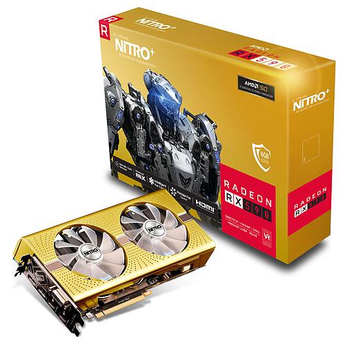 Carte graphique Sapphire Nitro+ Radeon RX 590 - 8Go Gold Edition (192.46€ avec le code NESPROMO)