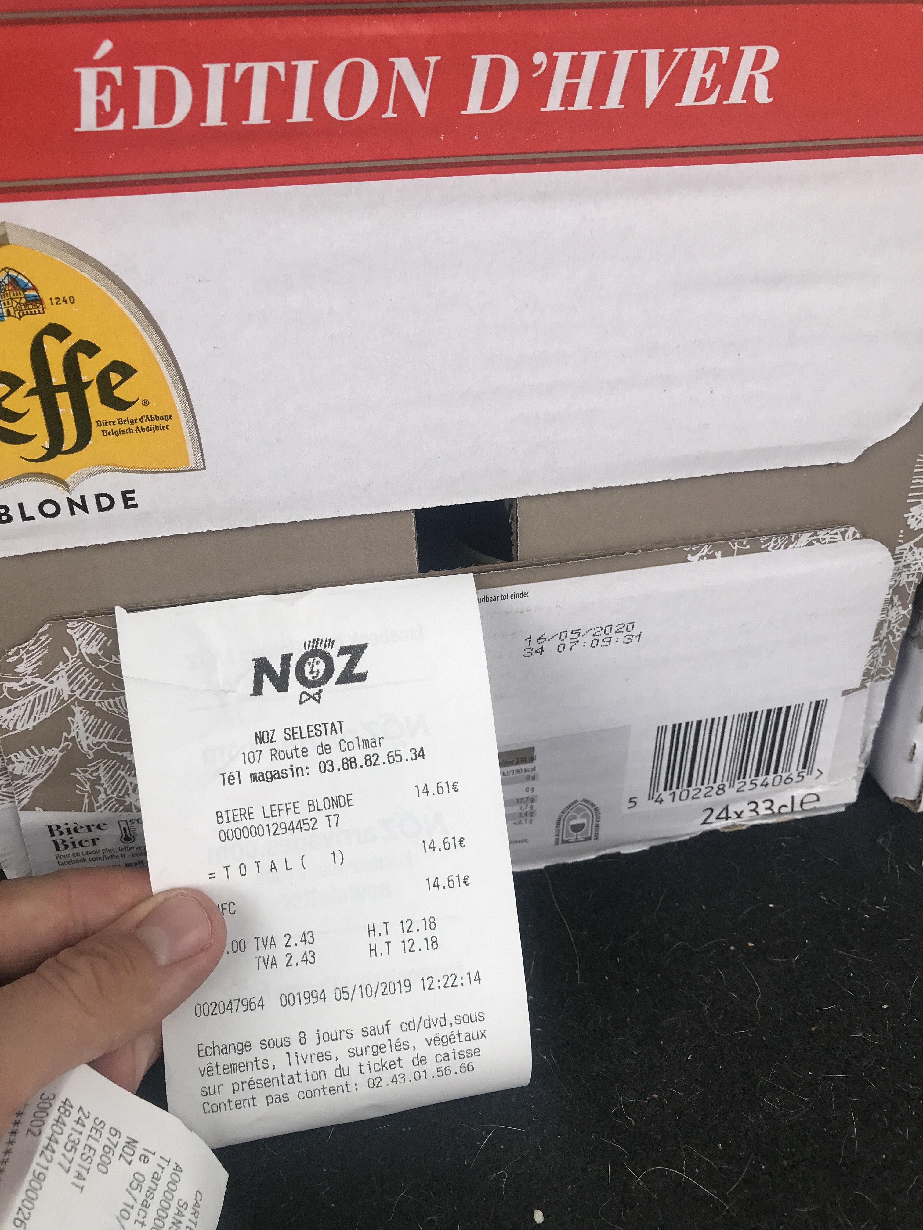 Pack de 24 Bière Leffe blonde Edition Hiver - 33cl - Sélestat (67)