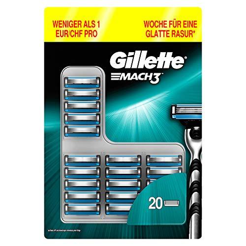 Pack de 20 lames de rasoir Gillette Mach3