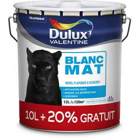 Pot de peinture murs et plafonds Dulux Valentine - 12 L