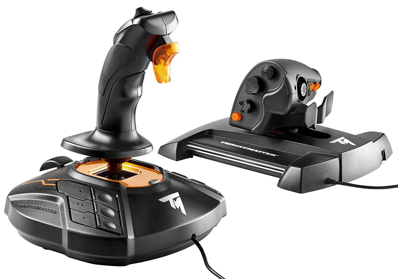 Pack joystick + manette des gaz Thrustmaster T-16000M FCS Hotas pour PC