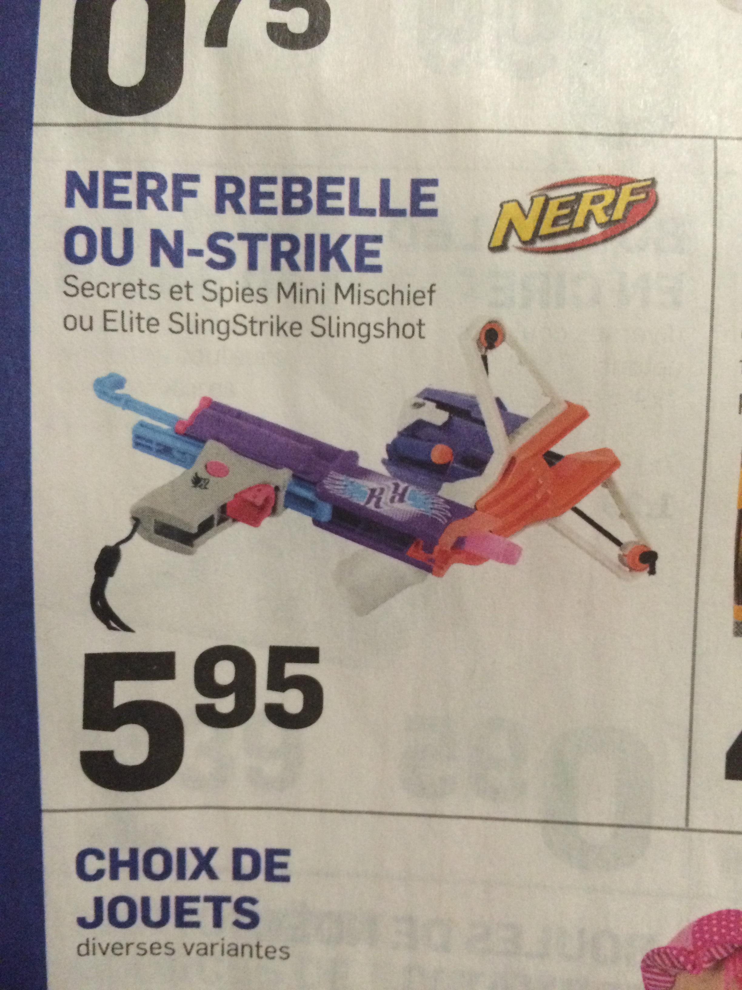 Nerf Rebelle ou N-Strike