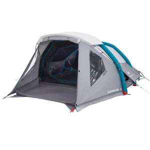 Tente de camping gonflable Quechua Air Second 4 Fresh&Black