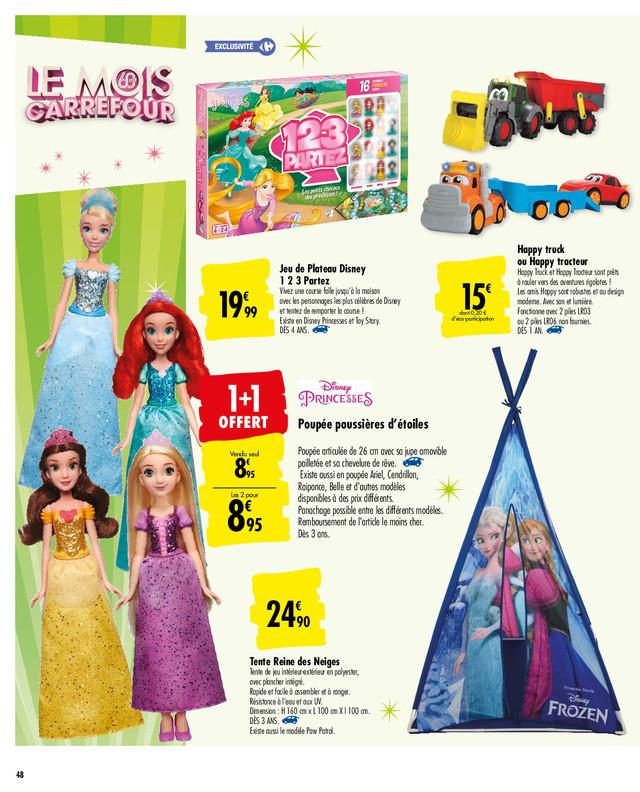 Lot de 2 poupées Disney princesse