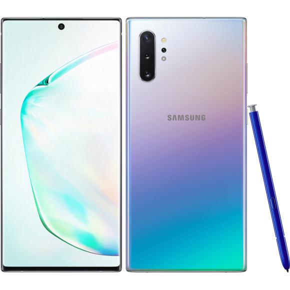 "Smartphone 6.8"" Samsung Galaxy Note 10+ Plus - RAM 12 Go, 256 Go, Argent Stellaire (vendeur tiers)"