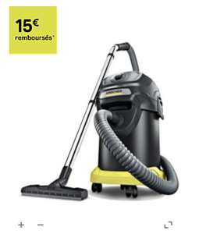 Aspirateur poussière et cendre Karcher AD4 (via ODR 15€)