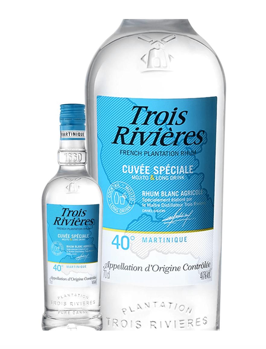 Bouteille de Rhum Agricole de Martinique Trois rivières Cuvée Spéciale Mojito et Long Drink - 70cl