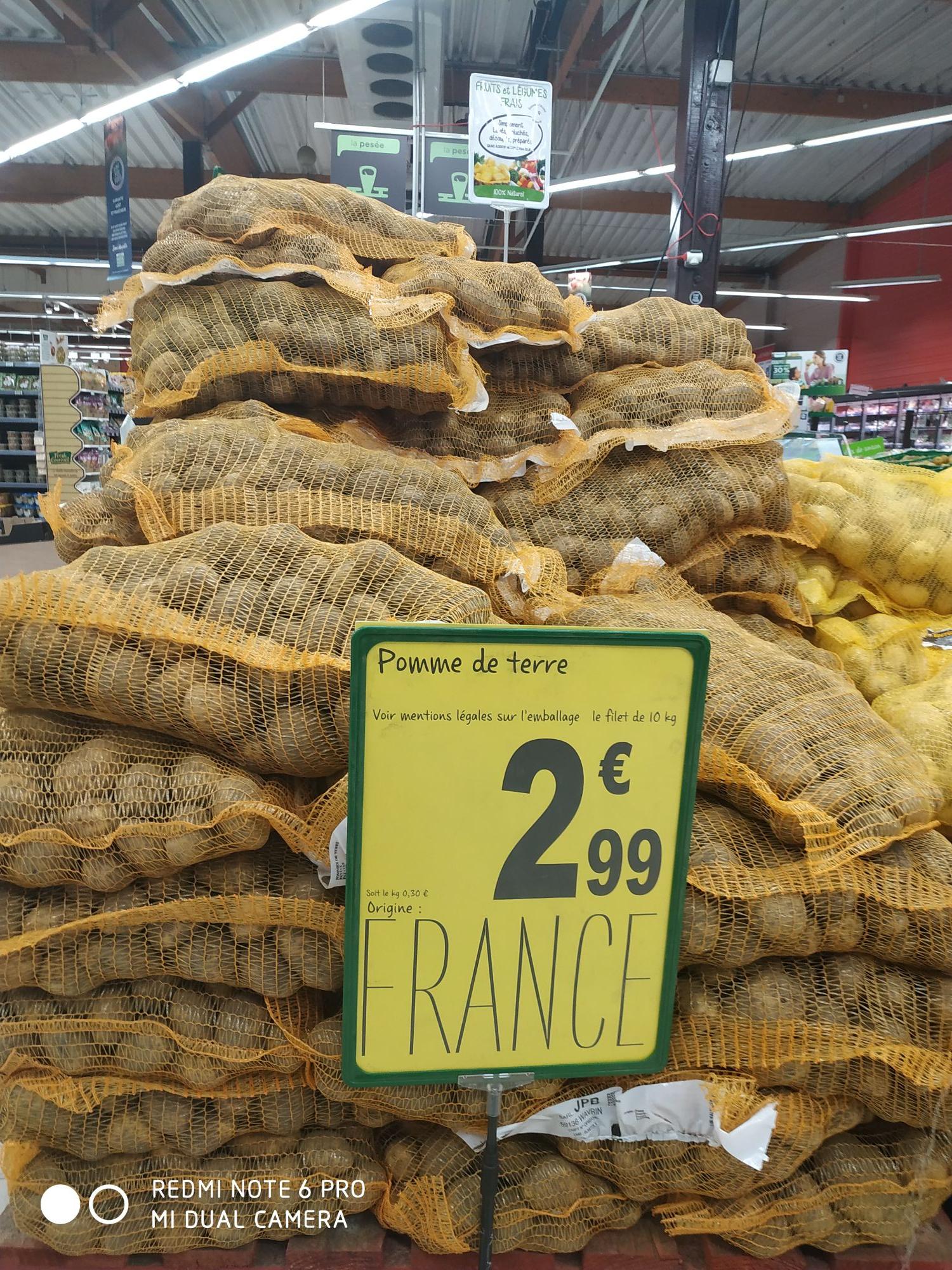 Filet de pommes de terre (origine France, 10 kg) - Trévoux (01)