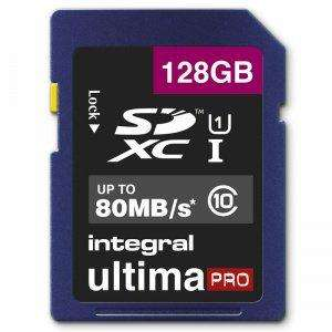 Carte mémoire SDXC Integral Ultima Pro Classe 10, UHS-I U1, 80MB/s - 128 Go