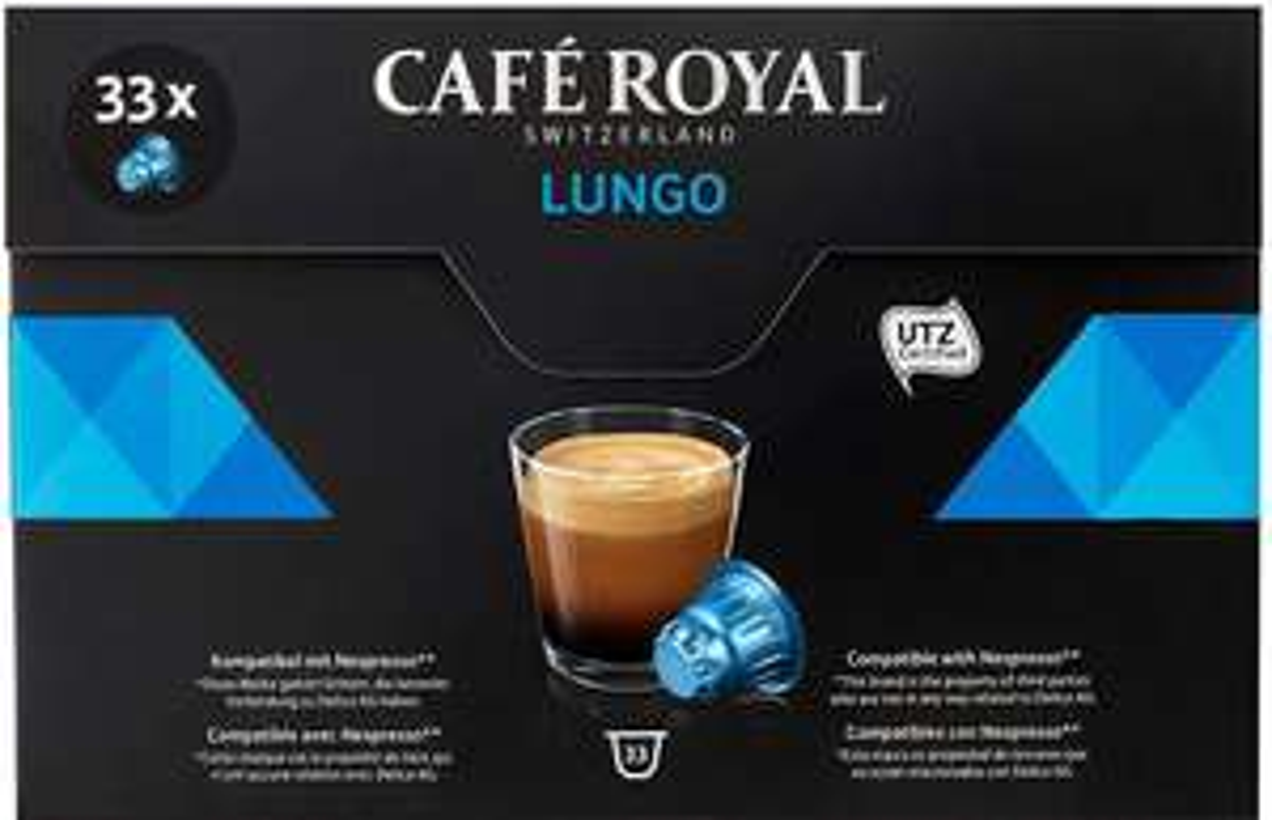 [Panier Plus] Paquet de 33 capsules de café Nespresso Café Royal - différents types