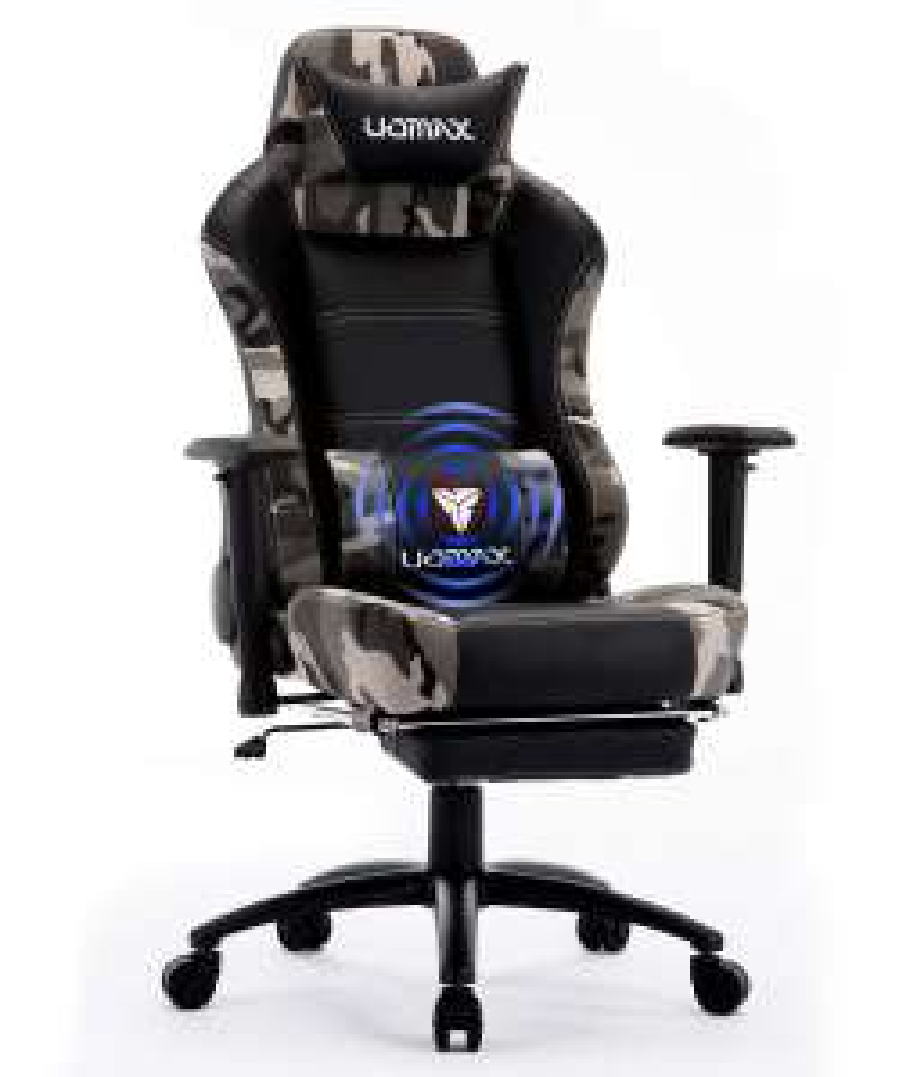 Chaise de bureau Uomax avec support llombaire et repose-pieds
