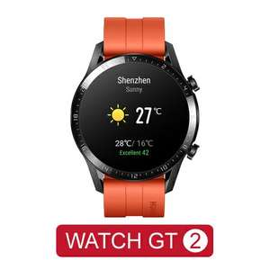 Montre conectée Huawei Watch GT 2 - Orange (Via coupon vendeur)