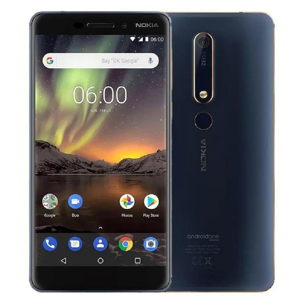 """Smartphone 5.5""""  Nokia 6.1 (TA-1043) - 4Go Ram, 64Go Rom, Dual Sim, Bleu, B20/B28"""