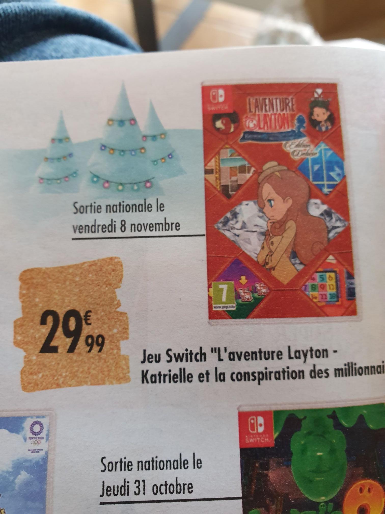 [Précommande] L'aventure Layton - Katrielle et la conspiration des millionaires sur Nintendo Switch