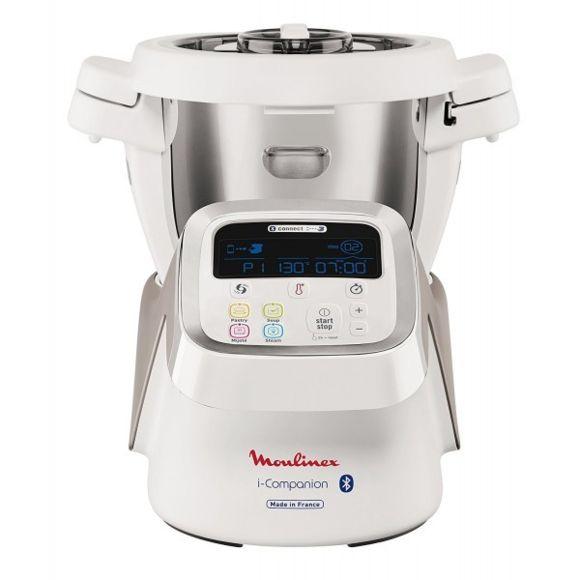Robot cuiseur multifonction connecté Moulinex i-Companion HF900110 (1550 W) - 4,5 L, 14 Vitesses, 500 recettes