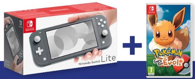 Console Nintendo Switch Lite + Pokémon Let's Go Evoli (via 45€ sur la carte de fidélité, 175,84€ avec le code PARIS2019)