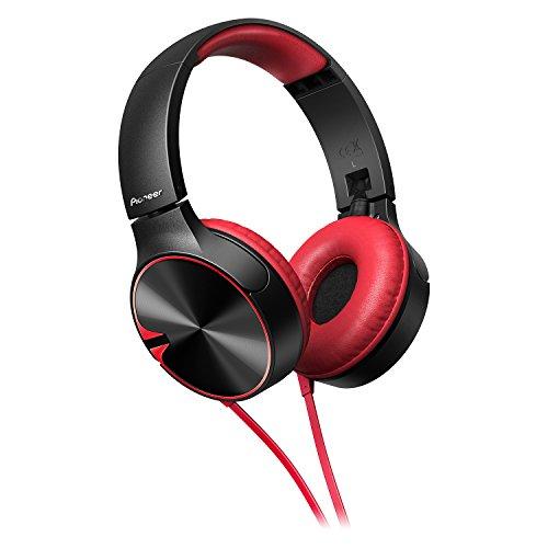 Casque audio filaire Pioneer SE-MJ722T-R - avec micro, noir / rouge