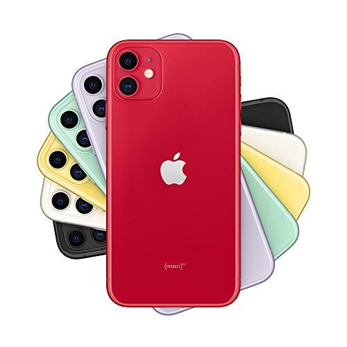 "Smartphone 6.1"" Apple iPhone 11 -  HD Retina, A13, 4 Go de RAM, 64 Go, rouge ou mauve"