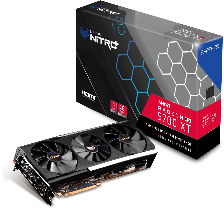 Carte graphique Sapphire Pulse RX 5700 XT Radeon Nitro+ (8 Go) + 3 mois de Xbox Game Pass + 1 jeu PC offerts - démat. (440.95€ via SOBIG)