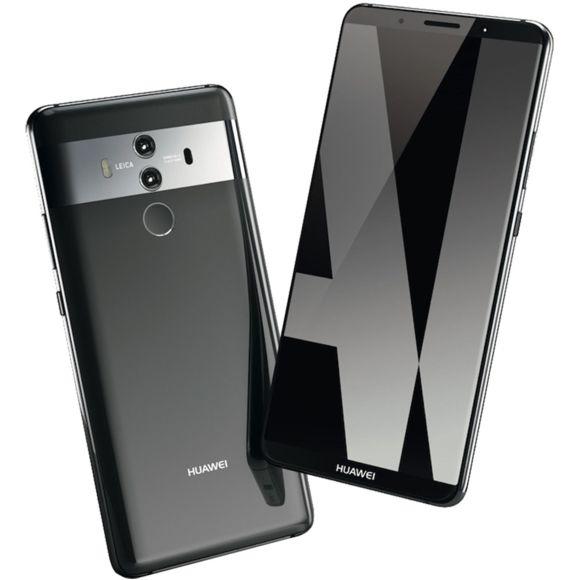 "Smartphone 5.9"" Huawei Mate 10 Pro (QHD, Kirin 970, 6 Go de RAM, 128 Go, noir) - reconditionné Premium"