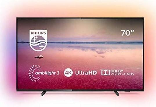"TV LED 70"" Philips 70PUS6704/12 - UHD 4K, HDR 10+, WiFi, Ambilight 3 cotés"