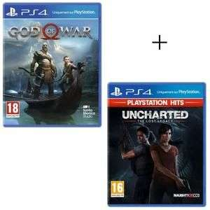 Sélection de packs PS4 PlayStation Hits - Ex : Uncharted The Lost Legacy + God of War