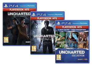 Lot Uncharted : Nathan Drake Collection, A Thief's End et The Lost Legacy sur PS4