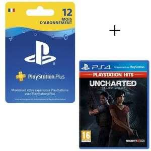 Uncharted: The Lost Legacy PlayStation Hits + Abonnement 12 Mois Playstation Plus