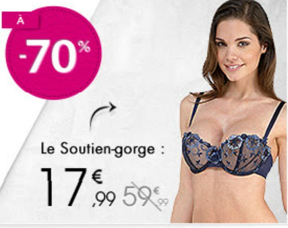 Vente privée Chantelle Paris à -70% - Ex : Soutien gorge