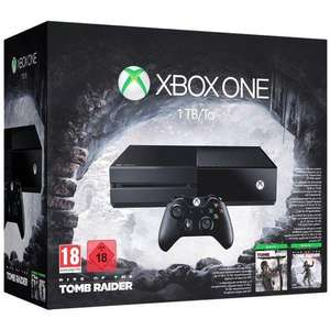 Console Xbox One 1 To + Rise of the Tomb Raider + Tomb Raider Definitive Edition (Dématérialisés)