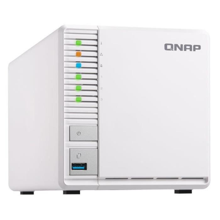 Serveur de Stockage (NAS) Qnap TS-328 - 3 Baies, Ram 2Go, RAID 5 , Transcodage H264/265 (Boitier nu) (+ Eventuelle Offre Spéciale)