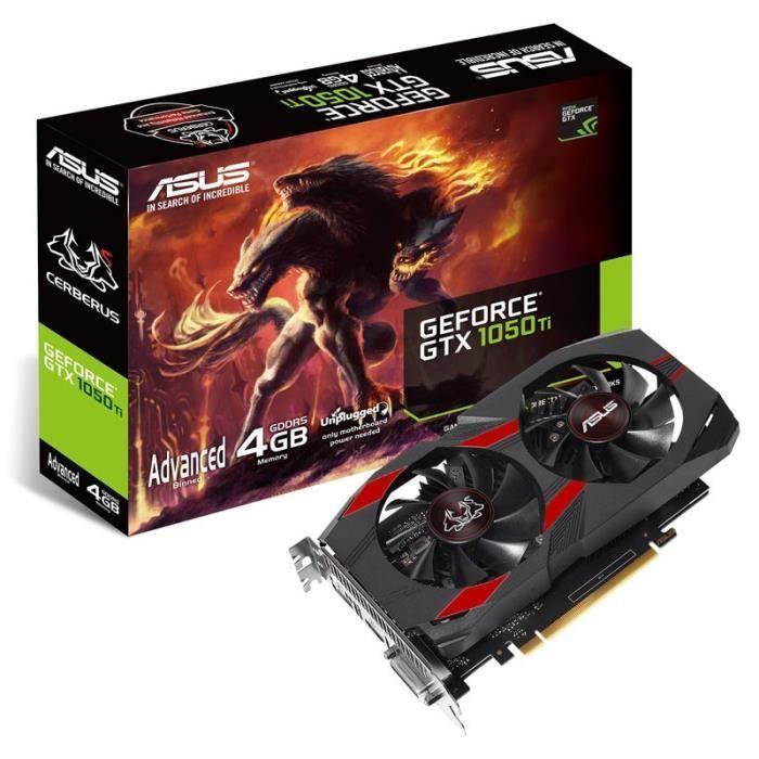 Carte graphique Asus GeForce GTX 1050 Ti Cerberus - 4 Go (+ Offre spéciale éventuelle)