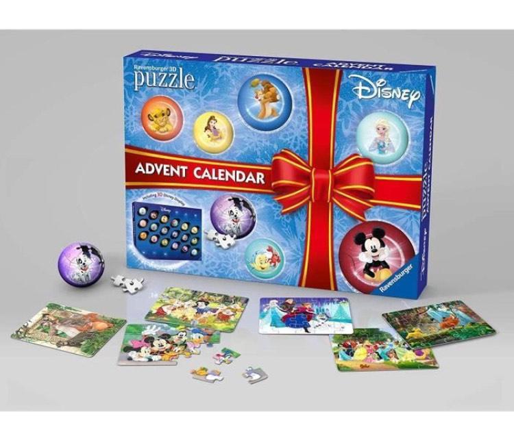 Calendrier de l'avent Ravensburger Disney - Puzzle 2D ou 3D