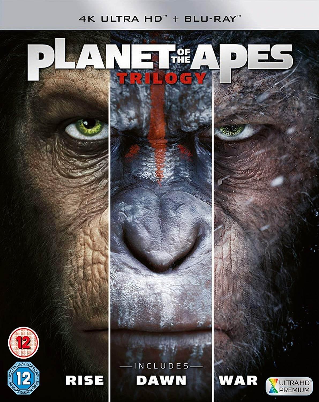 Coffret Blu-ray 4K UHD La Planète des Singes - La Trilogie (VO en 4K)