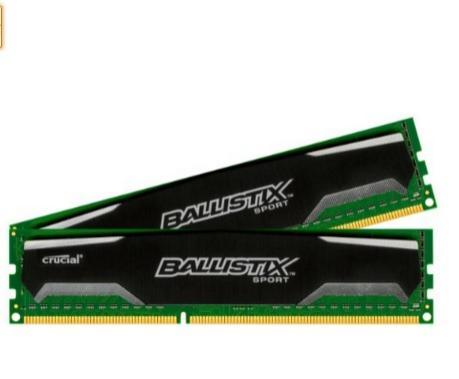 Kit mémoire DDR3 Crucial CL9 Ballistix Sport 16Go (2x8Go) PC3-12800 1600Mhz