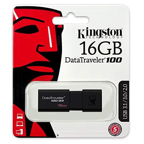 Lot de 2 Clés USB 3.0 Kingston  DT100G3 - 16 Go