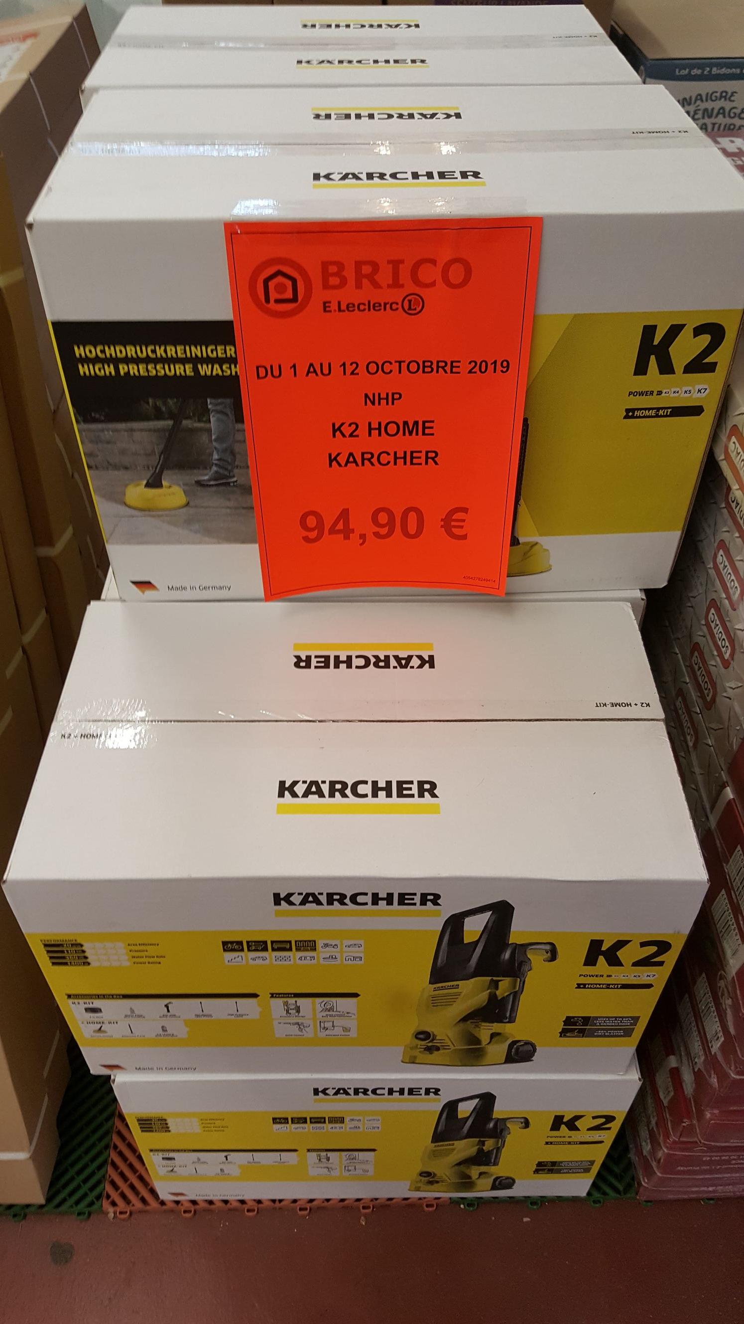 Nettoyeur haute pression Kärcher K2 Home - Leclerc Brico Fleury-les-Aubrais (45)
