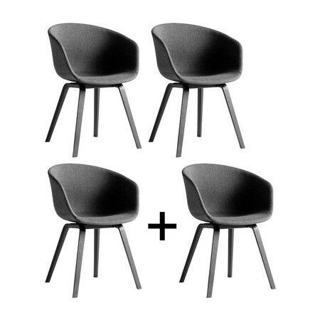 Lot de 4 chaises Hay AAC 23 (Frais de port inclus) - ambientedirect.com
