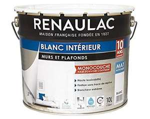 Peinture intérieur Murs & Plafonds Monocouche Acrylique - 10L
